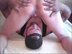 Wife Dripping lover's Cum into cuckold hubby's mouth