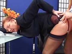 Mature Professionals Banging In Office Blowjob