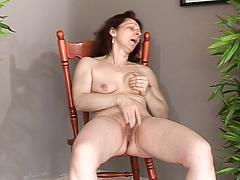 Older Wife Naked And Masturbating On Chair