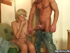 This Old Grandma Gets Hot And Horny By This Guy