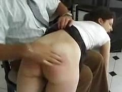 Old Man Is Turned On By Spanking Naked Teen Girls