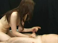 Hot Asian Brunettes Play With Hard Cocks