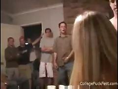 Fucking at party while people watch