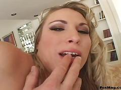 Pornstar in nylon stockings gets her anal screwed crazily