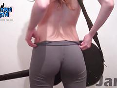 Skinny Teen with a Beautiful Round Ass and a Big Cameltoe